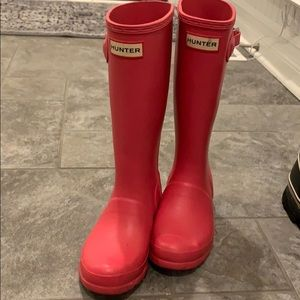 Hunter Boots - Tall Pink size 1